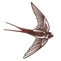 Patch swallow 152x130mm copper 1pc