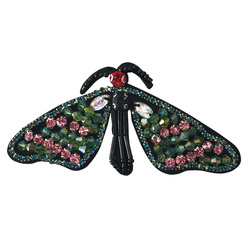 Patch butterfly 50x90mm imit. stone 1pc