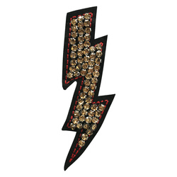 Patch lightning 40x110mm imit. stone 1pc