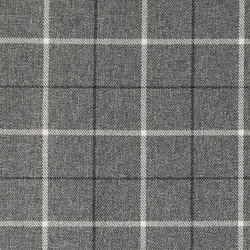 Upholstery fabric wool look grey w check