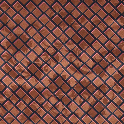 Woven jaquard golden brown w check
