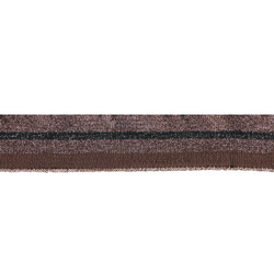 1x1 rib 3,3x100cm brown/black/pink lurex