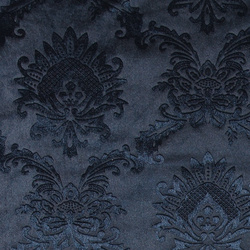 Embossed velvet m blue w wallpaper look