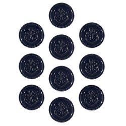 Shank button anchor 13mm navy 10pcs