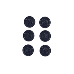 Shank button 19mm navy 6pcs