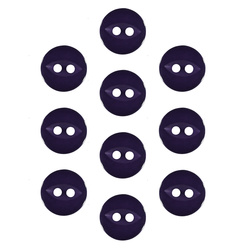 Button 2-holes 11mm purple 10pcs