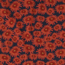 Viscose stretch jersey navy w red flower
