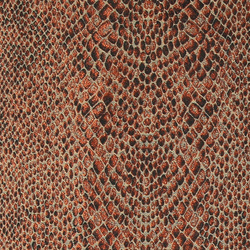 Jacquard, Sand, Terracotta Schlangmuster