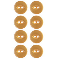 Button 2-holes 18mm dark curry 8pcs