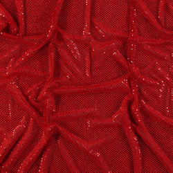 Knit with foil sequins red 3mm
