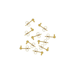 Earstick w/eye and lock gold 10set