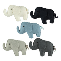 Kit felt elephants 10cm 5pcs