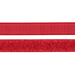 Hook and Loop tape 20mm red 50cm