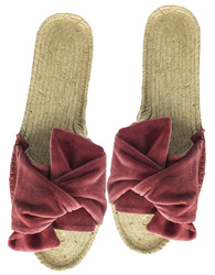 Espadrillos with a knot