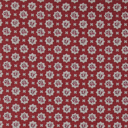 Cotton red w flower in light grey star