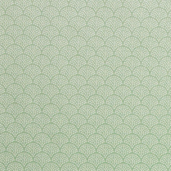 Woven oilcloth w lt green/white arches