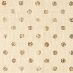 Coarse hessian white with gold dots