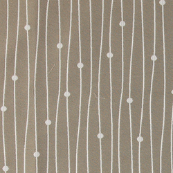Jacquard sand w white stripes and dots