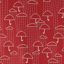 PU laminate red w umbrella / interlock