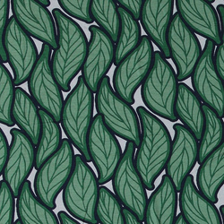 Viscose stretch jersey with green leafs