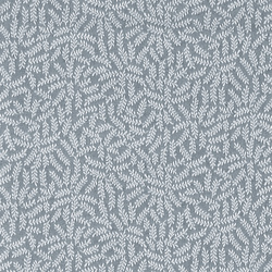 Jacquard light grey w blue branches