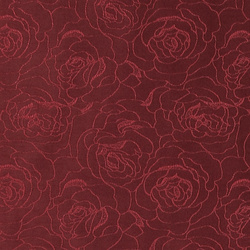 Jacquard bordeaux flower pattern