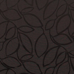 Jacquard black w leaves