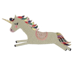 Patch unicorn 100x72mm sand 1pc