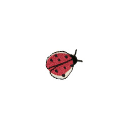 Patch ladybug 24mm red/black 1pc