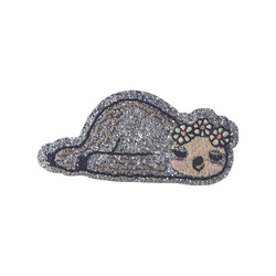 Patch sloth 59x28mm glitter 1 pcs