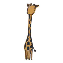 Patch giraffe 30x13mm light brown 1pcs