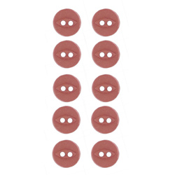 Button 2-holes 10mm dark rouge 10pcs
