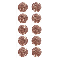 Shank button 11mm powder w/glitter 10pcs