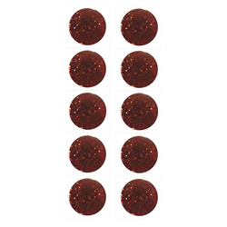 Shank button 11mm rouge w/glitter 10pc