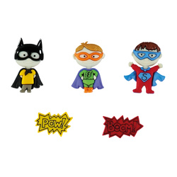 Shank button Super Hero 20-28mm 5pcs
