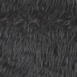 Fake long haired fur grey 50mm