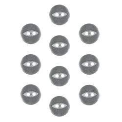 Button 2-holes 10mm light grey 10pcs