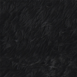 Fake long haired fur black 50mm