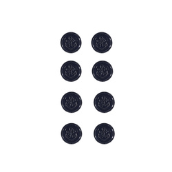 Shank button anchor 15mm navy 8pcs
