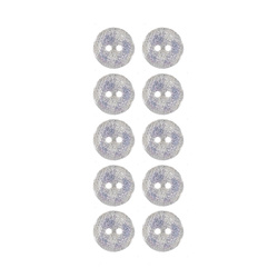 Button 2-holes 13mm nature squares 10pcs