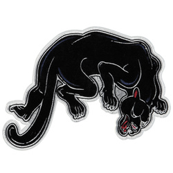Patch panther 26x19cm black 1pc