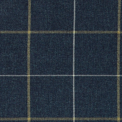 Upholstery fabric wool look blue w check