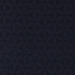 Broderie anglaise dark navy with flowers