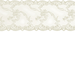 Lace mol cream w rose edging 35cm