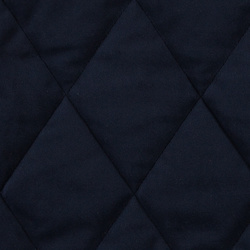 Quilted velour navy