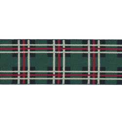 Elastic checked 45mm green/red/white 2m