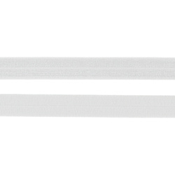 Folding elastic 14mm white 3m