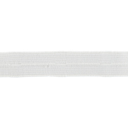 Buttonhole elastic 19mm white 3m