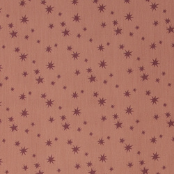 Twill light redbrown w bordeaux stars