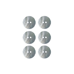 Button 2-holes pearl 15mm lt blue 6pcs